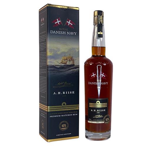 Royal Danish Navy Rum - friis wood og deli70cl på flaske i gaveæske